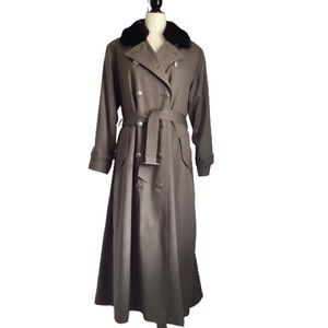 HILARY RADLEY VINTAGE DOUBLE BREASTED MAXI COAT